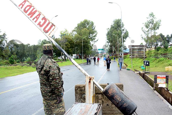 gandan security officer at yanika border hoto by palanyi sentongo