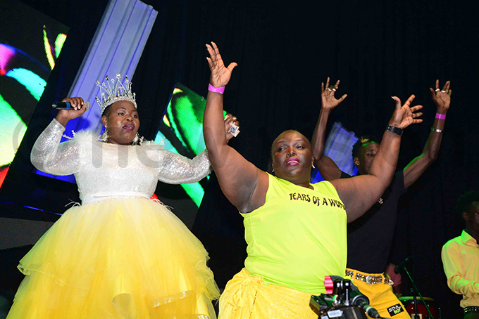 atherine usasira put up an energetic performance during her riday night show hoto by ddie sejjoba