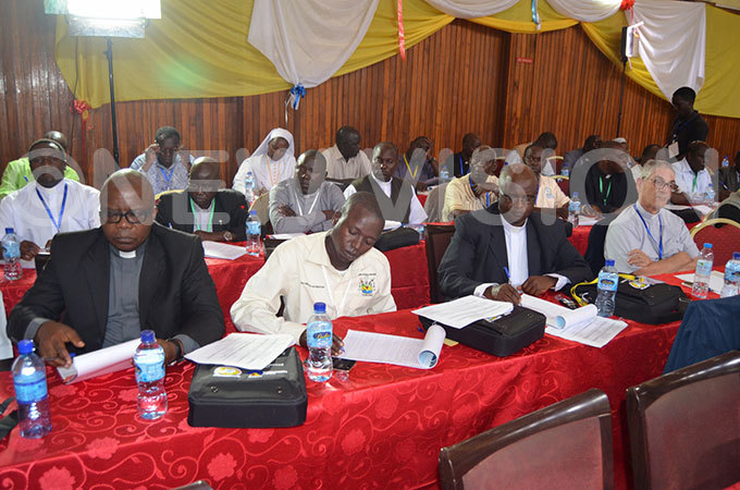 cross section of delegates during the atholic issionary ongress at ope aul memorial otel ubaga