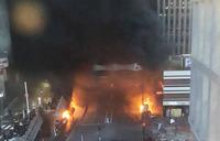 Anti-Congo regime protesters set fires in Paris
