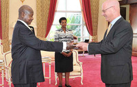 Museveni receives credentials of 9 new envoys