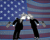 binary-us-flag-trump-clinton