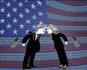 binary-us-flag-trump-clinton