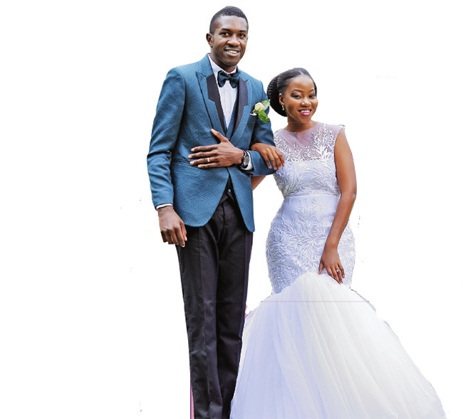 usasizi and abirye on their wedding day