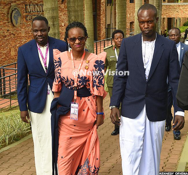 ganda delegation dressed in anzu