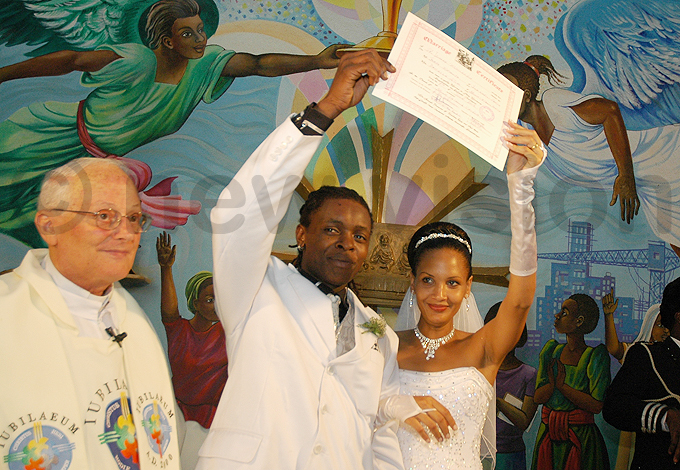 he couples wedding was presided over by aniellas godfather ather ohn calabrini who passed away in ctober