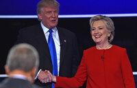 Clinton edges ahead of Trump in post-debate poll bump