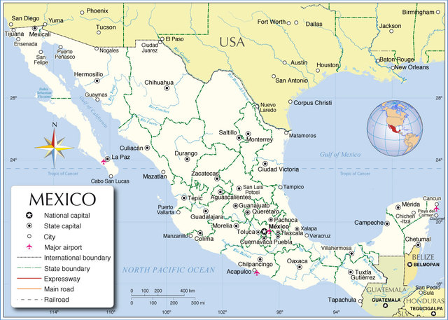 Wavestack Music The Mexican Startup Scene Idg Connect - Us-and-mexico-map
