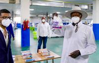 In pictures   Museveni tours Jinja textile factory