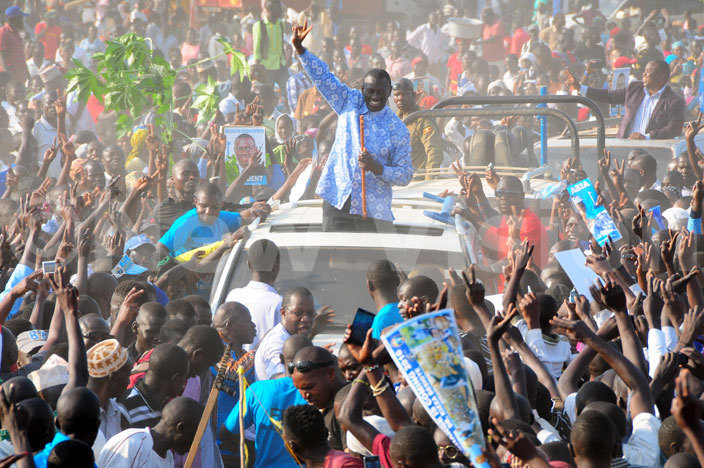 Besigye in Arua. Pictures by Nicholas Oneal