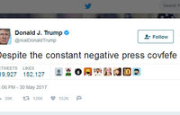 Trump cryptic tweet 'covfefe' trending on Twitter