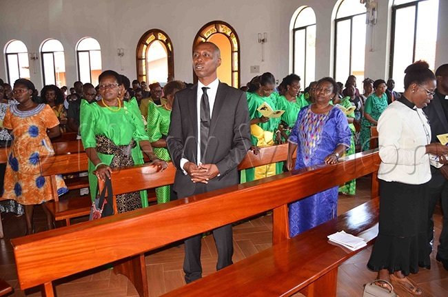 section of mourners during the funeral