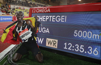 Cheptegei hails training partners after record-breaking feat