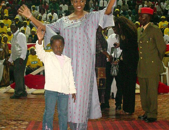 he ueen of uganda ylvia agginda and daughter atrina sangalyambogo during ew ear celebrations at amboole
