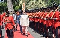 India Prime Minister Modi arrives in Uganda