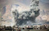 Strikes pound east Damascus after rebel assault