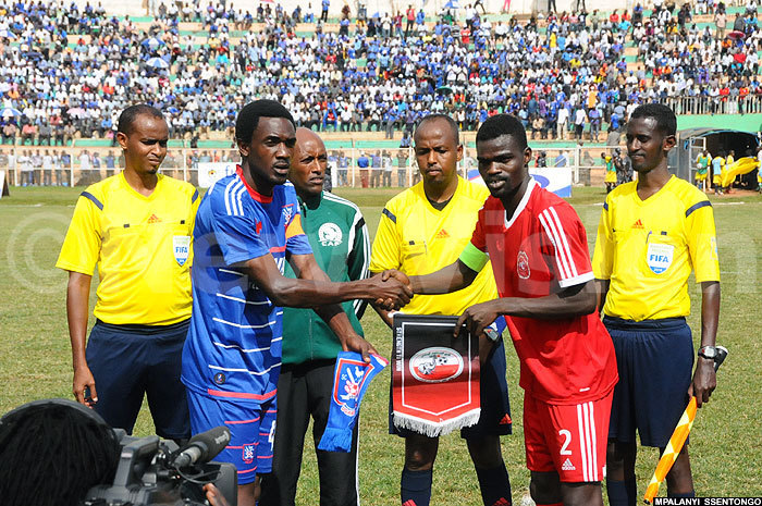 he two captains shook hands before kickoff in a game that would be officiated by omali  referee agi abarow ilsh