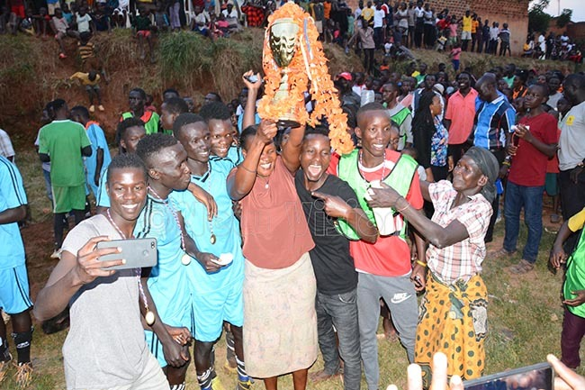 others and children joined the celebrations after the match