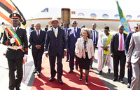 Museveni in Ethiopia for IGAD summit