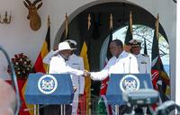 Museveni takes train from Mombasa to Nairobi