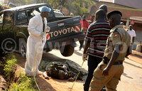 Maj Kiggundu murder scene in pictures