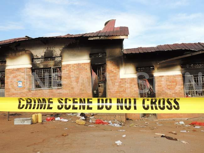 he dormitory which was destroyed in the fire hotos avis uyondo