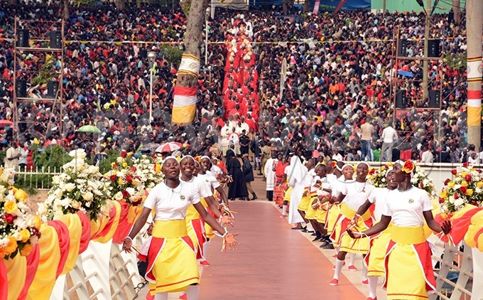 undreds of thousands of pilgrims usually converged at both the atholic and nglican artyrs shrine in amugongo to celebrate ganda artyrs ay ile photo