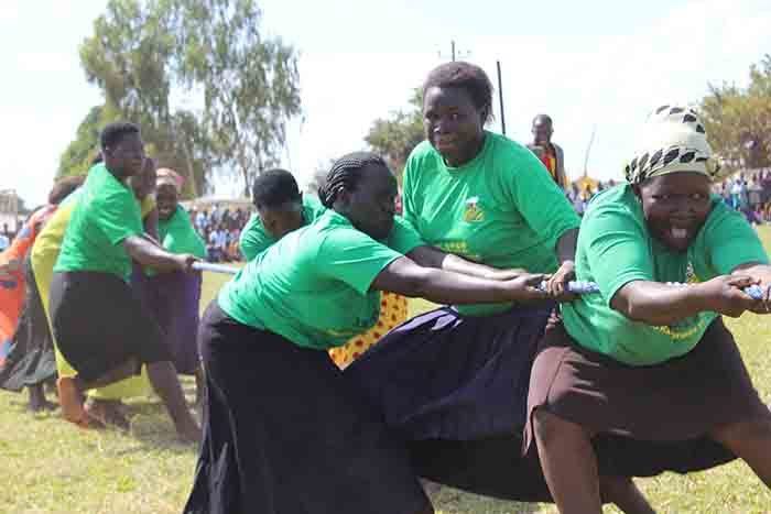 omen of welo sub county while participating in the tug of war game in molatar district icture y ichael nyinge