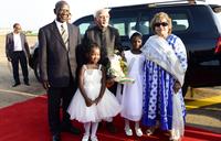 India Vice President jets in