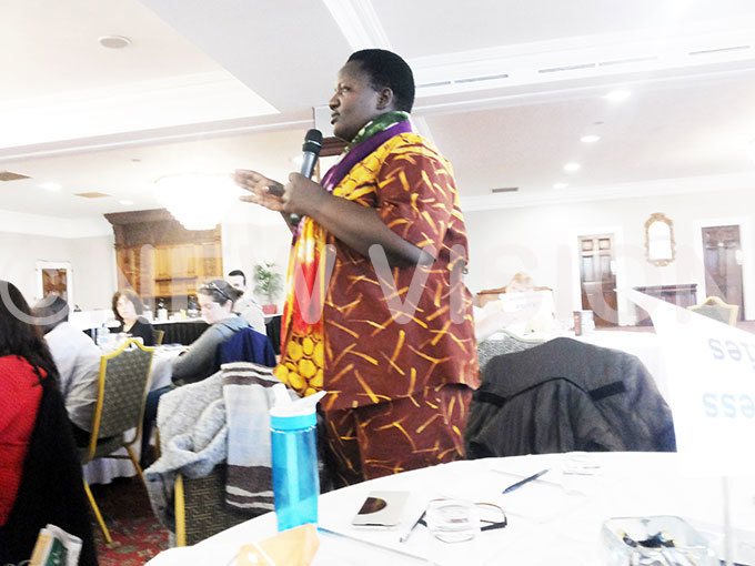 aome uhwezi contributes during the orldwise lobal teachers conference at est ity otel ublin