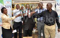 Mukwano boost athletics season with 450 cartons of Aqua Sipi