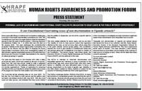 Human Rights Awareness and Promotion Forum-Uganda