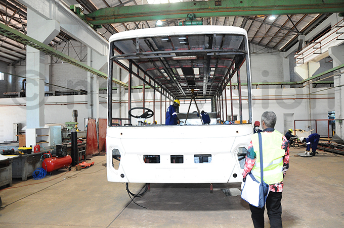 gandan engineers during fabrication of the first ayoola electric bus hoto by amadhan bbey