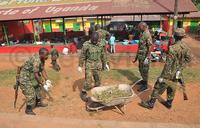 Tarehe Sita: UPDF soldiers clean Namawojjolo Market