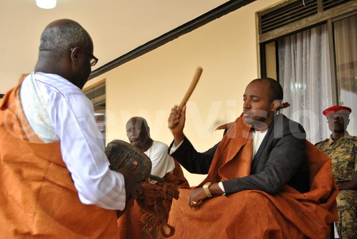 ing yo sounding the royal drum as he launches mpango celebrations