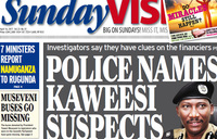 In Sunday Vision: Kaweesi murder suspects named