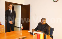 Oulanyah, diplomats sign condolence book for Belgium victims