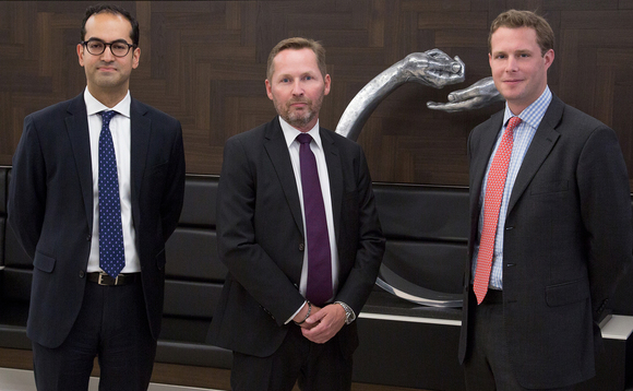 From left to right: Suneet Kumar, Mats Arthursson and James Gatehouse