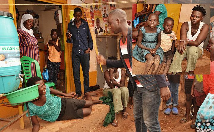 Abaakakiiko ka LC mu Kazo Angola nga bakuba muganda wa Aikolu kibooko olw'okutulugunya abaana. Bombi ne Aikolu baabakubye.  Mu katono ye Aikolu n'abaana abaabakubizza.