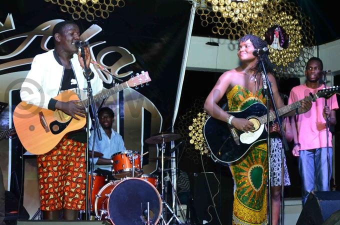 enneth ugabi performing at the event hoto by usa semwanga
