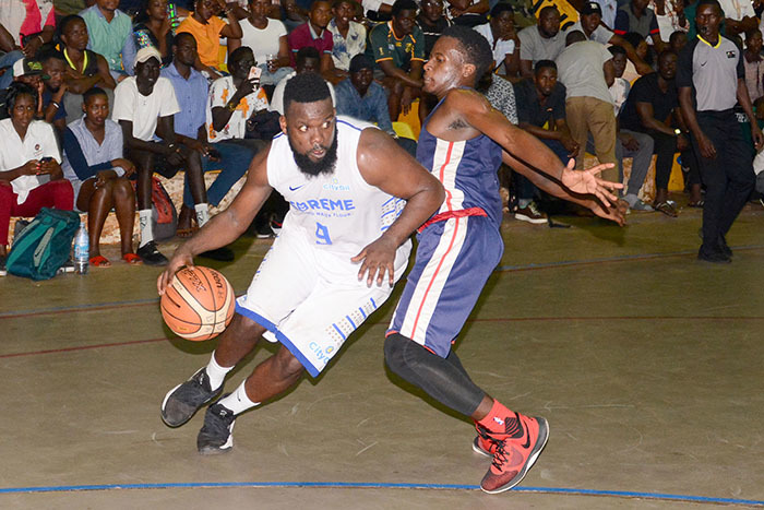 ity ilers osh ohnson left drives past  anons ayed baale during gamefour of the finals at ugogo an 10 2020 hoto by ichael subuga