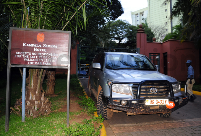 he ministers official car still parked at erena otel after he was arrested hoto by ddie sejjoba