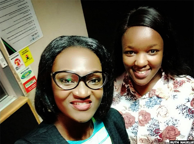 ew ision  anchor uth asejje with alaika at the ision roup head office