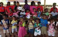 Hairdressers association donates to Sanyu Babies Home