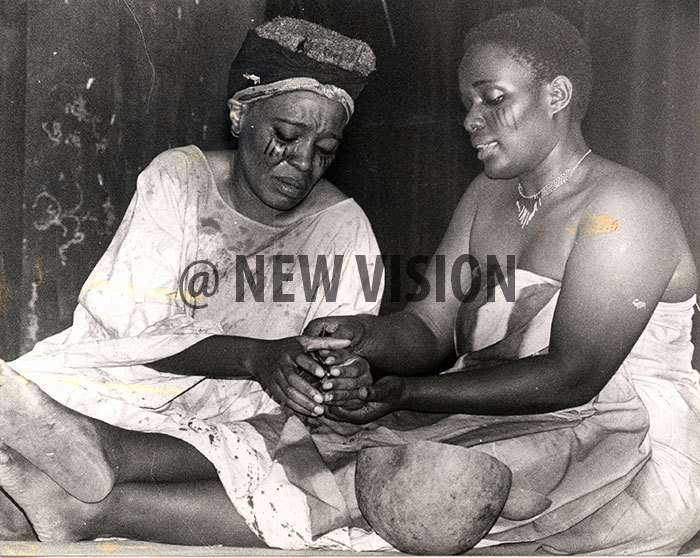 battered and bruised bride ango rene ulabako left gets some tender care from her mother oan obusinge during eamlines ands of my eople