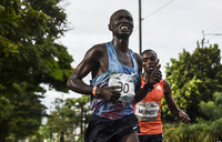 Kenyan runner hit by car during marathon