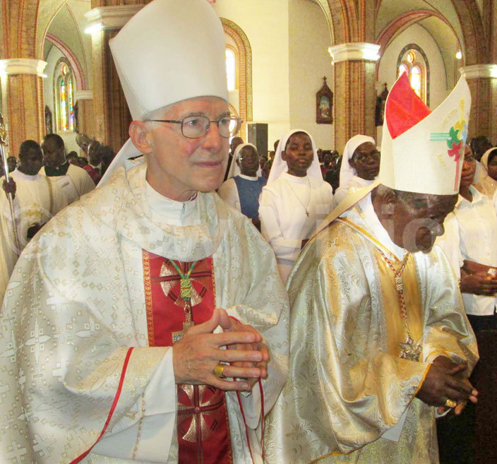 rchbishop lume and ardinal amala in procession for the hrism