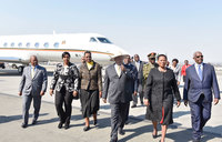 Museveni in South Africa for BRICS summit