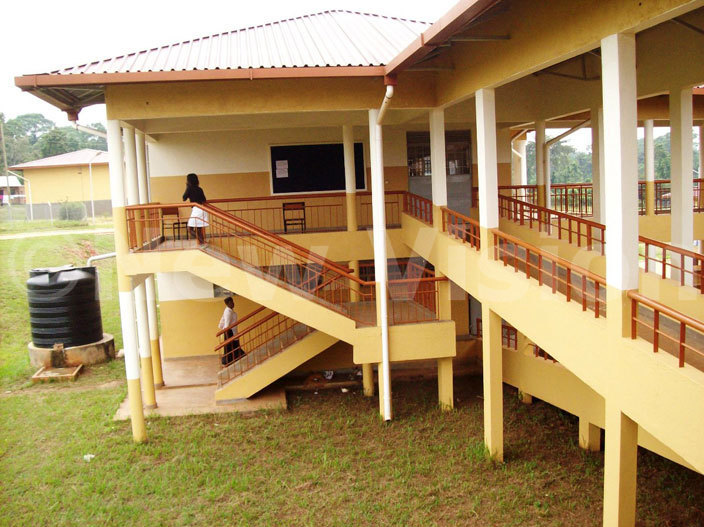 students walk to their study rooms at awanyago technical institute
