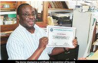 Dr. Mukwaya, Uganda's most renowned malaria researcher